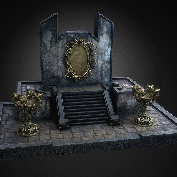 Fantasy pedestal