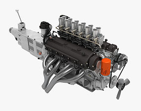 Ferrari Colombo V12 Engine - 4 liter 3D model