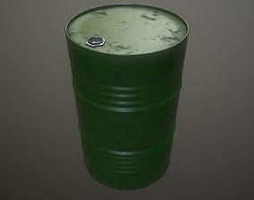 Oil drum petroleum 3D asset game-ready