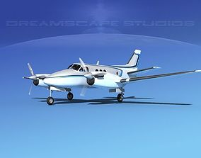 Beechcraft King Air 100 V05 3D model