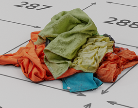 VR / AR ready Pile of Clothes on the Ground Neo Color 3D