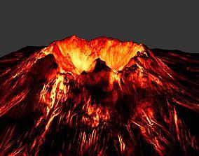 volcano stone 3D model VR / AR ready