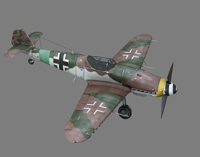 WWII BF109 BF-109 Me109 Me-109 Fighter Later 3D asset