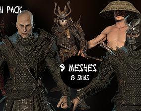 Samurai pack 3D model