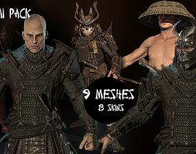 3D Samurai pack