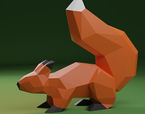 3D model VR / AR ready Squirrel