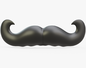 3D model Cartoon Mustache