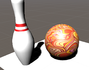 3D Bowling Ball and Pin