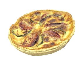 Photorealistic Quiche 3D Scan grocery
