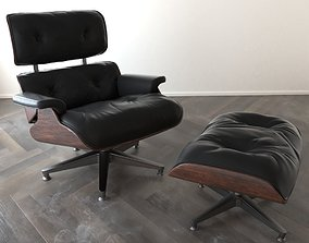 Eames Lounge Chair 3D model game-ready