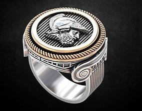 3D print model Ring coin greek 124