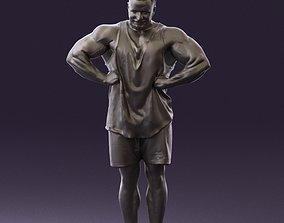 Bodybuilder in green shirt 0783 3D Print Ready
