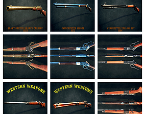 3D model Western weapons collection