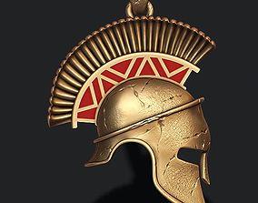 Spartan helmet pendant necklaces 3D printable model