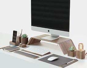 3D model iMac and Grovemade desktop