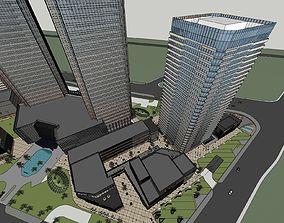 Commercial complex modernism style 6 3D