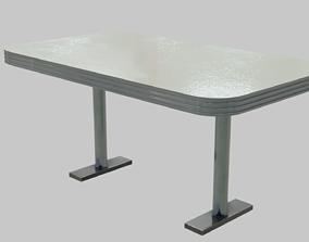Diner Table 1950s 3D asset