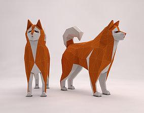 3D asset ORIGAMI---Dog Setup