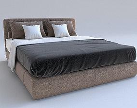 furnishing 3D Luxury Bed Model