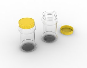 Pickle Plastic Bottle with Yellow Cap 3D print model