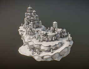 miniatures Medieval Village With Castle 3D print model