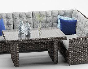 Latina Outdoor Rattan CornerSofa Set 3D model