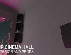 3D asset VIP cinema hall - interior and props