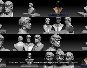 President Donald Trump Gameready and 3D printable