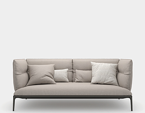 3D Sofa with high backrest