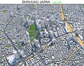 Shinjuku Japan 20km 3D asset