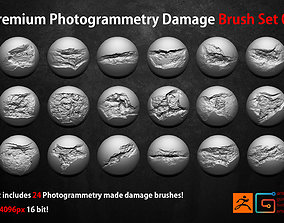 3D model Photogrammetry Wall Damages Brushes and Alphas 1