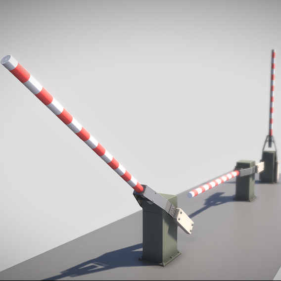 Low-Poly Railroad Barrier 3m