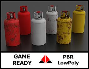 3D asset Gas tank collection