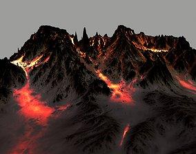 magma volcano 3D