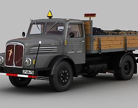 3D model IFA S4000-1 Flatbed Truck Coal