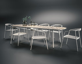 Manutti DUO chair and MINUS table 3D model