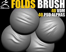 Folds VDM Brush for ZBrush 3D