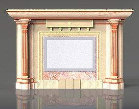 Fireplace portal 3D fire