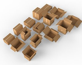 Cardboard boxes Collection 3D model