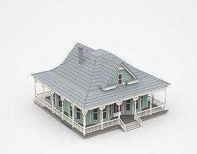 Light House With Long Veranda 3D model