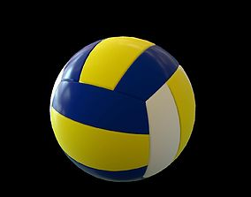 Volley ball low poly sports 3d model game-ready