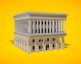 3D statue European Historical Building Architecture