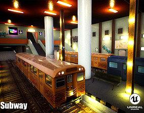 3D asset Subway Unreal Engine