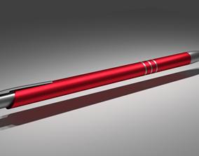 Pen red 3D asset