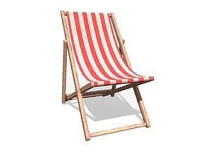 Deck Chair 3D asset