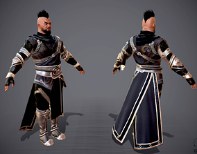Chinese Male Character Warrior Killer Thieves 3D asset 1