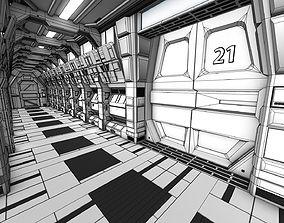 3D Sci-FI Corridor