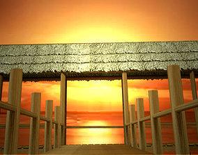 Tiki theme Beach Pier 3D model