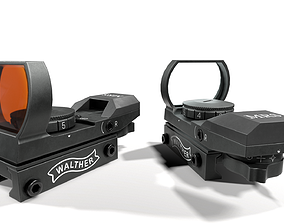 3D asset Walther MRS Open Reflex Red Dot Sight