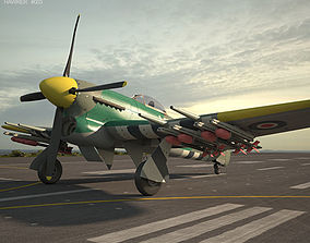 airplane Hawker Typhoon 3D